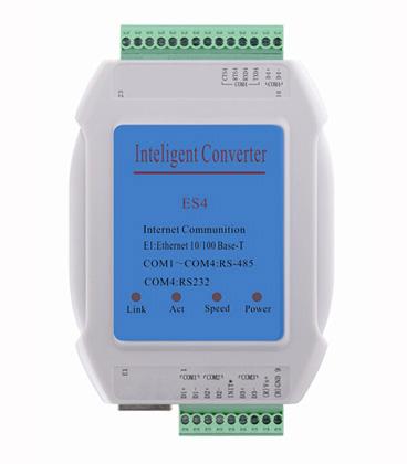 智能温湿度控制器-串口服务器-4串口转网口ES4